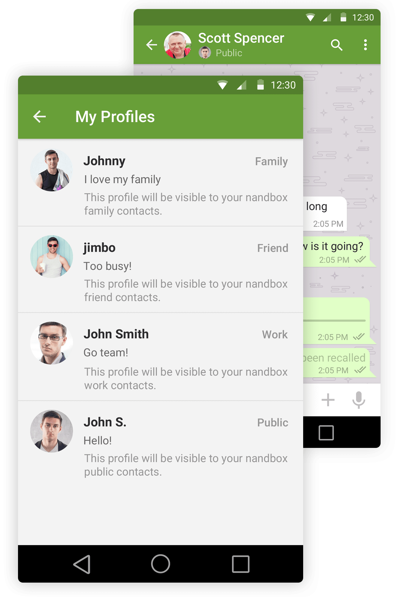 free chat messenger screen