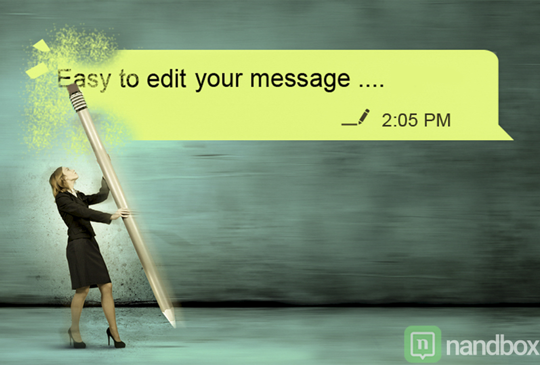 Edit your Sent Messages With nandbox Messenger