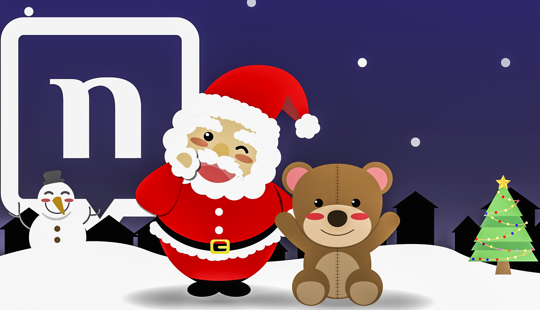 Use Christmas stickers from nandbox messenger