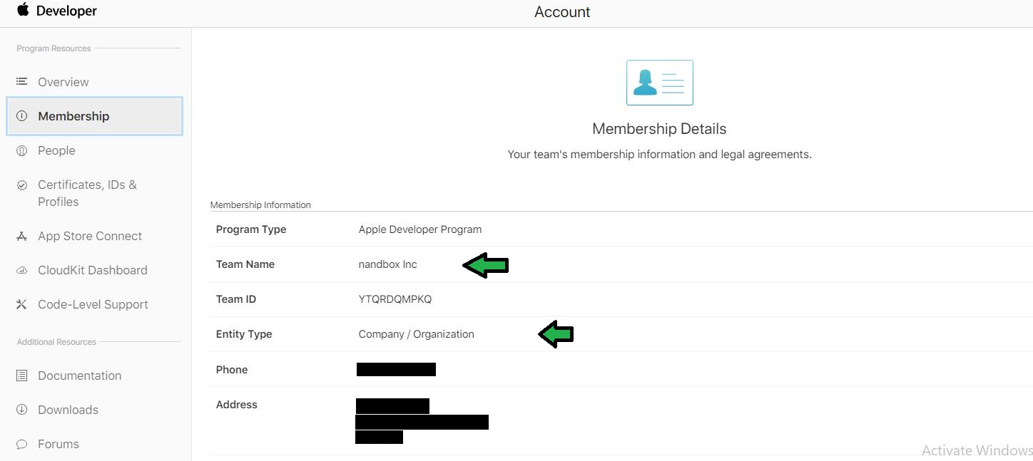 How to get your Apple Developer Account's Team Name and