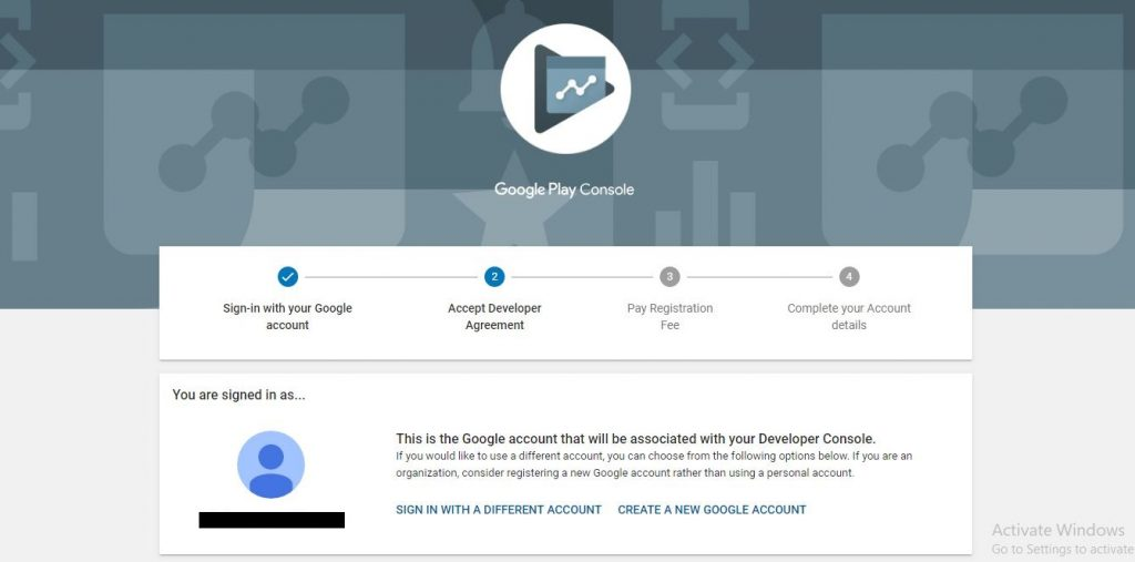 Navigate to the Google Play Console and sign in using your Gmail account.