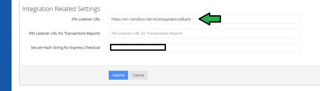 Copy and Paste the IPN Listener URL